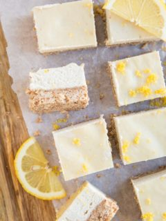 Keto Lemon Cheesecake Bars - no-bake lemon bars made dairy-free, grain-free and sugar-free. A low-carb dessert recipe!