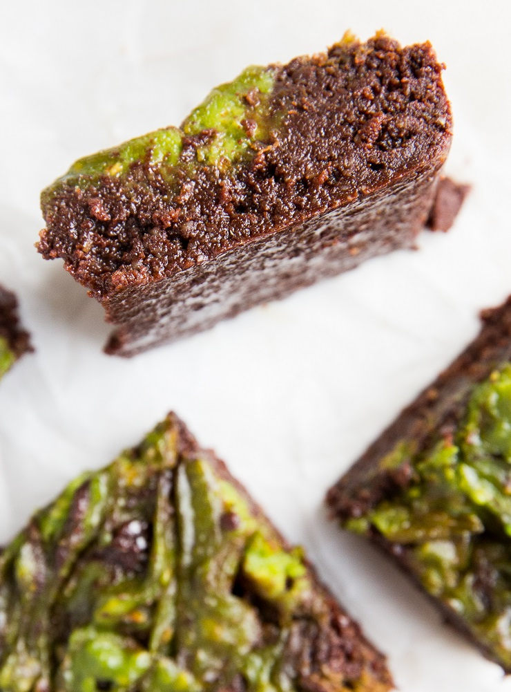 Low-Carb Sugar-Free Mint Brownies made with almond flour and sugar-free sweetener. Grain-free and keto!