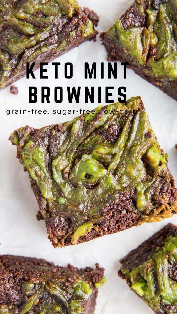 Sugar-Free Keto Mint Brownies that are INSANELY moist, fudgy and amazing with perfectly crispy edges. A low-carb brownie recipe