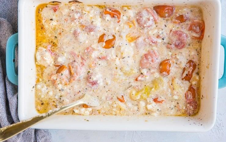 Sauce for baked feta pasta