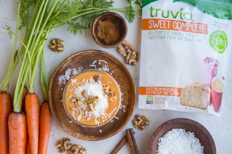 Carb-Conscious Carrot Cake Smoothie with Truvia