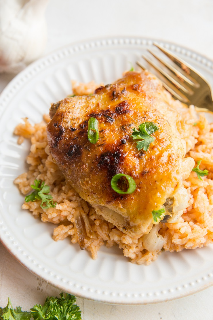 Instant Pot Spanish Rice with Chicken is a flavorful, delicious meal of tender chicken and perfectly cooked flavorful rice. Perfect for meal prep or any night of the week