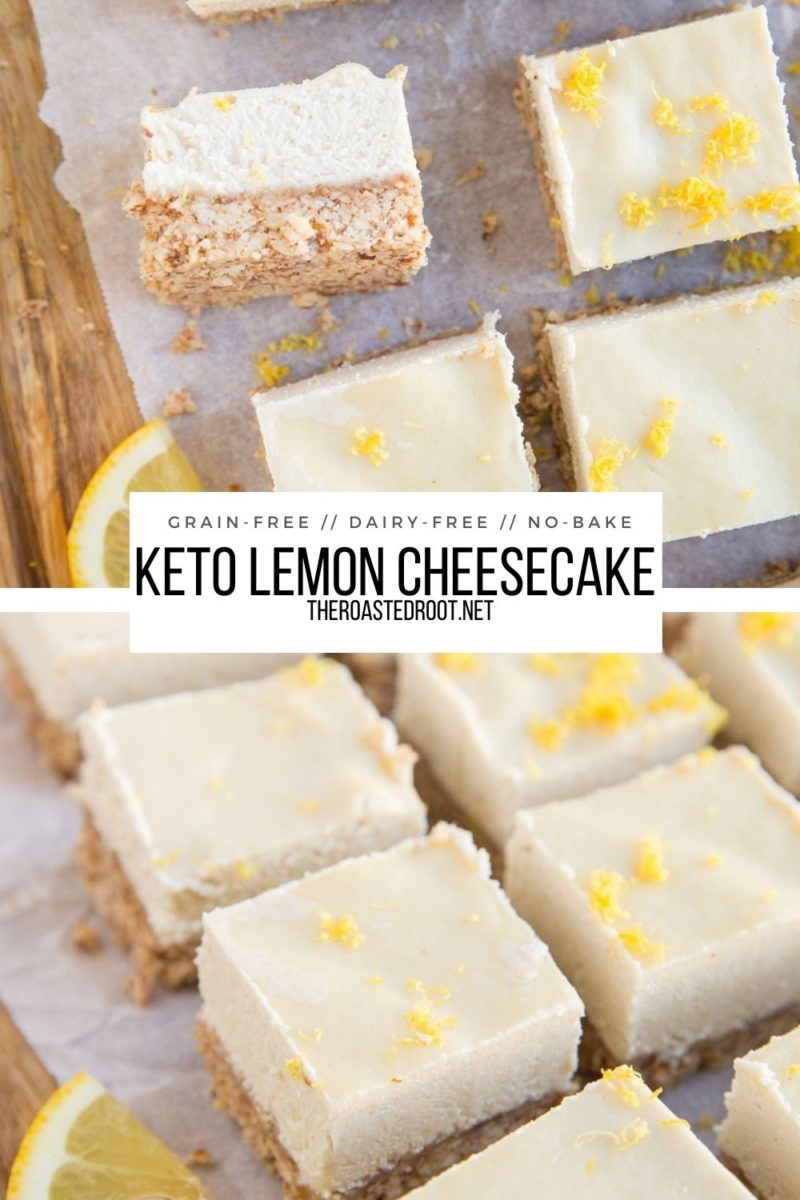 Keto Lemon Cheesecake Bars - dairy-free, sugar-free, grain-free, and absolutely delicious! A zesty sugar-free dessert recipe perfect for sharing