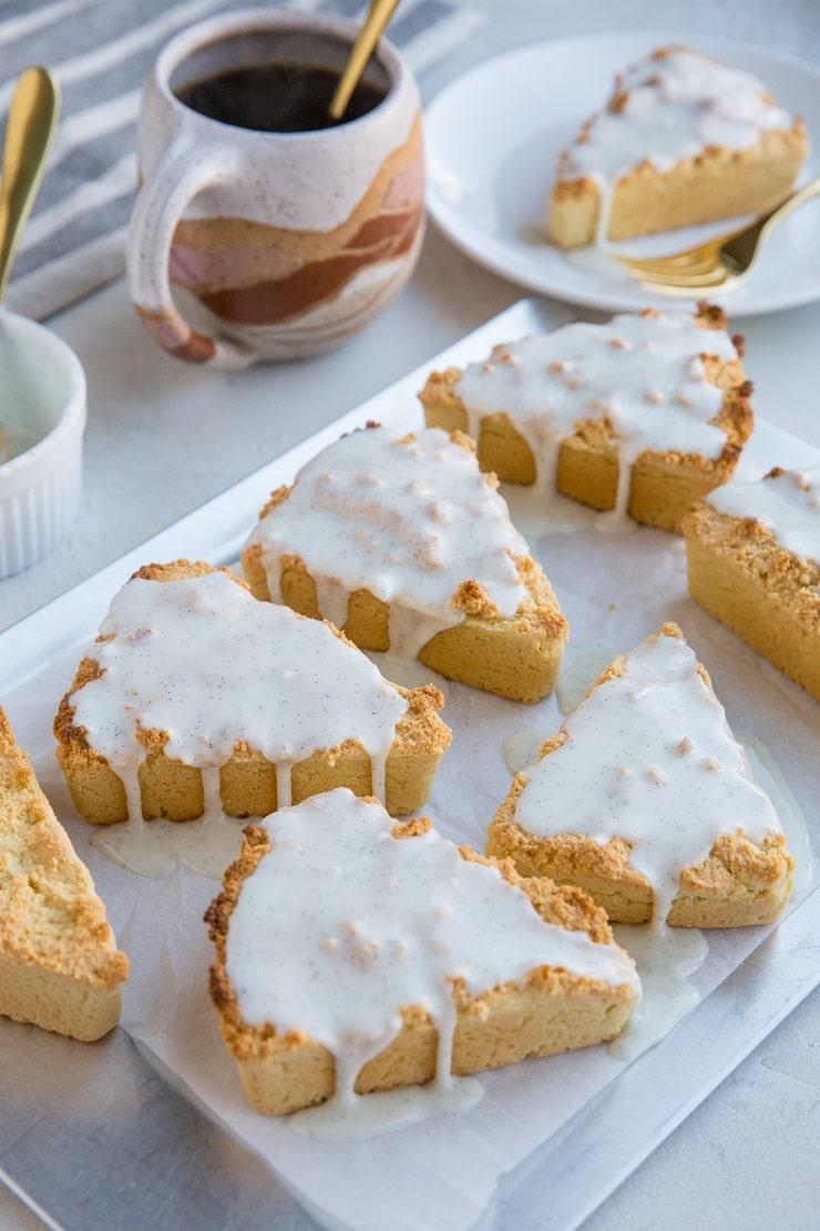 Vanilla Bean Keto Scones - grain-free, dairy-free, super easy to make! No baking experience necessary!