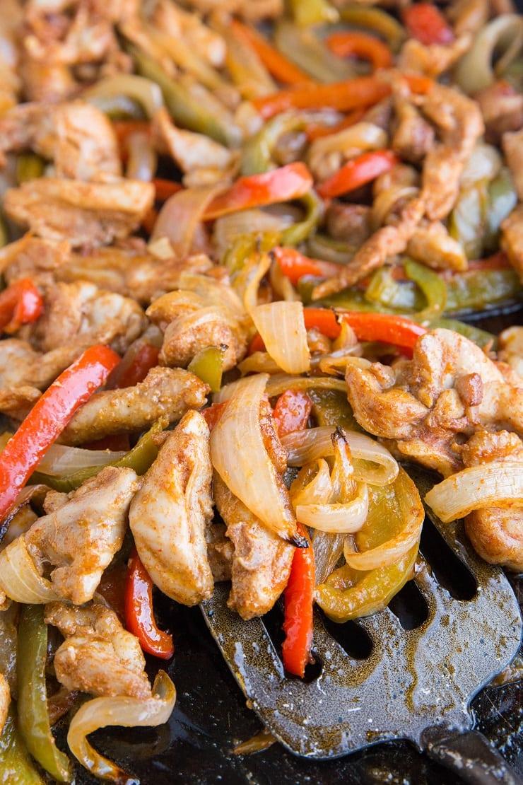 Quick and Easy Sheet Pan Chicken Fajitas - an easy recipe for Mexican fajitas