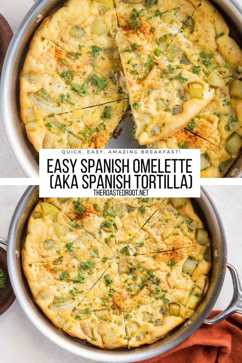 Easy Spanish Omelette Recipe - quick, simple, delicious breakfast or brunch recipe, perfect for sharing.