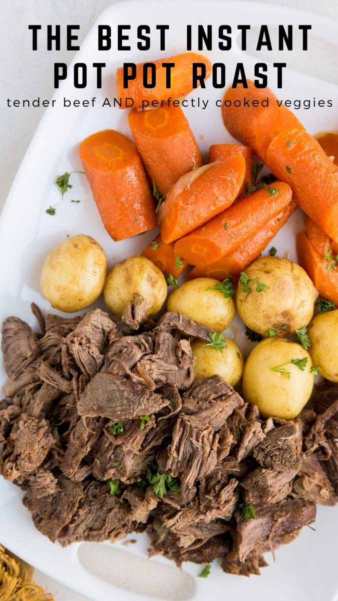 The BEST Instant Pot Pot Roast Recipe - perfectly tender beef and amazing vegetables. Easy to prepare, and perfect for serving any night of the week