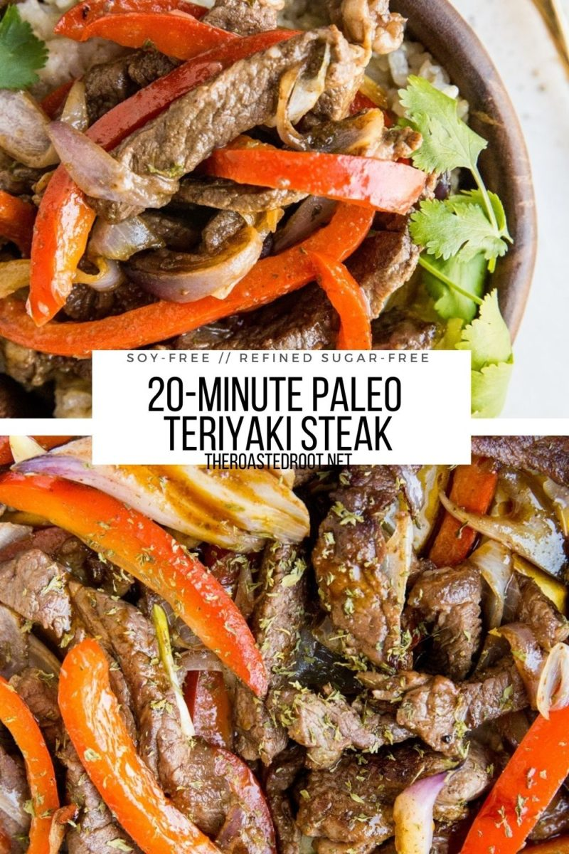 Paleo Teriyaki Steak made in just 20 minutes! So quick, easy, and delicious!
