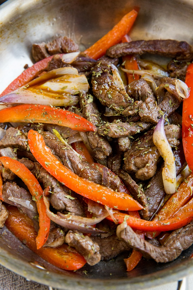 Quick and Easy Teriyaki Steak with peppers and onions - a super easy weeknight dinner recipe