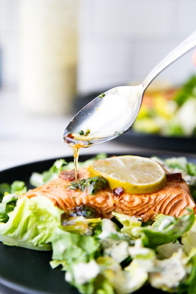 Sweet Chipotle Salmon with Hot Honey Glaze