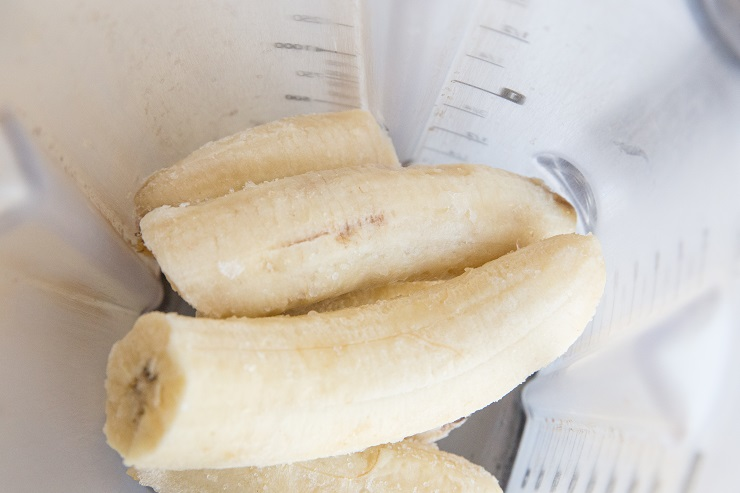 Add bananas to your blender