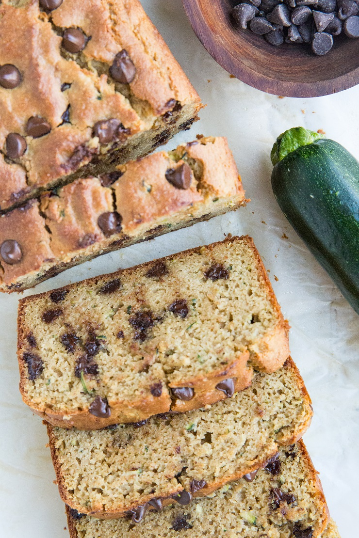 Paleo Zucchini Bread made with almond flour and coconut sugar for a grain-free, refined sugar-free, dairy-free treat!