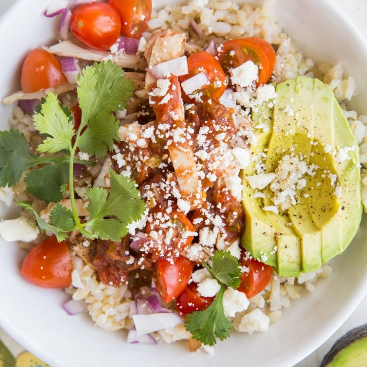 Easy Delicious Healthy Chicken Burrito Bowls - a complete guide to the BEST Chicken Burrito Bowls