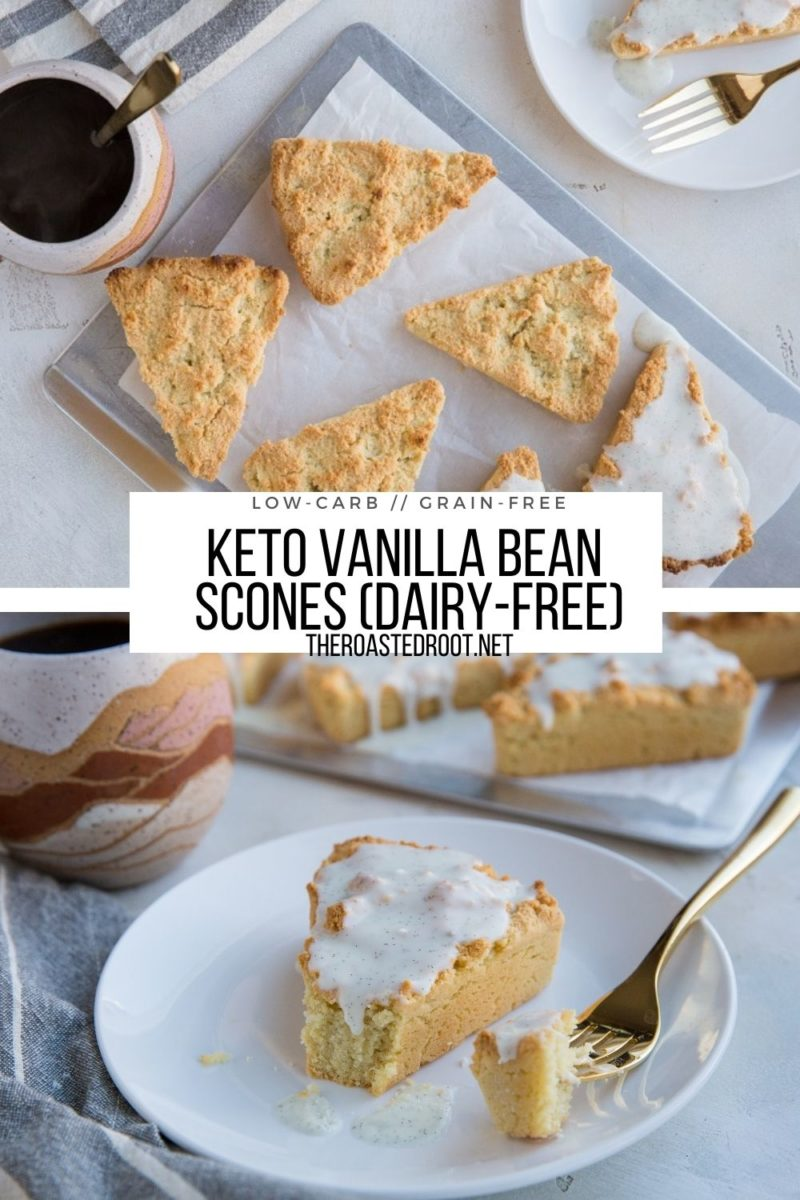 7-Ingredient Keto Vanilla Bean Scones made grain-free, dairy-free and delicious!