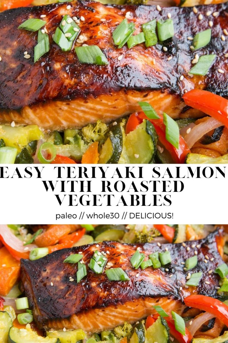 Easy Teriyaki Salmon Recipe - paleo, whole30, absolutely delicious! This quick dinner recipe comes together in a flash and is amazing for meal prep.