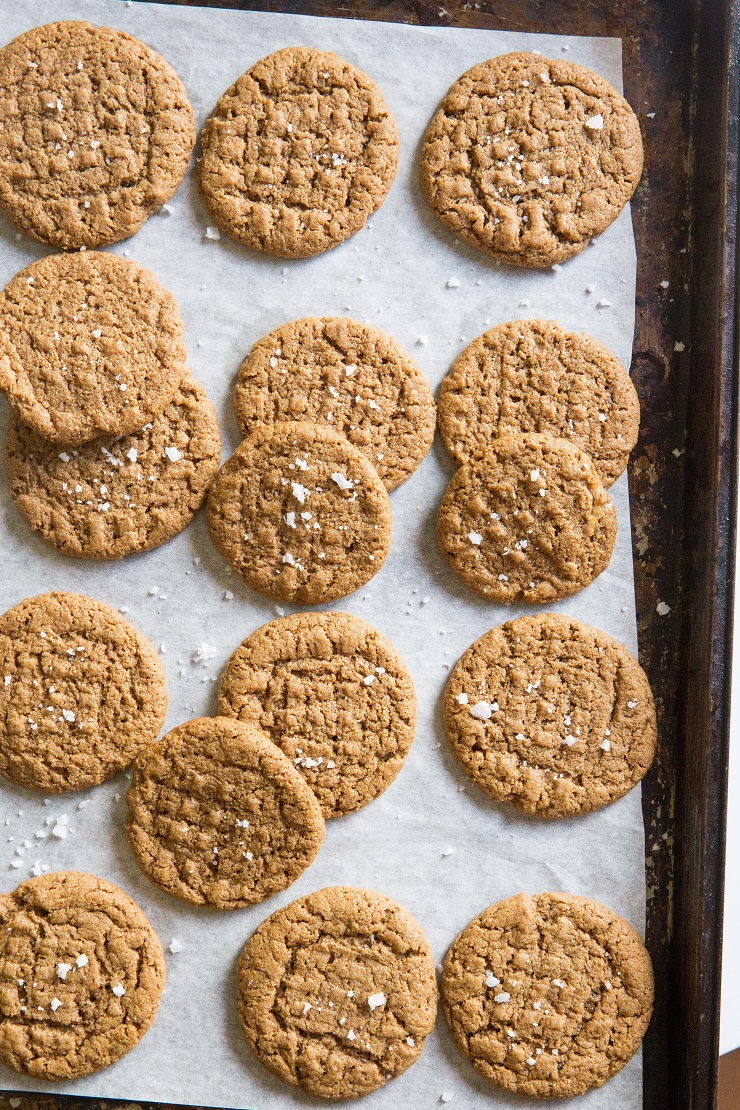 Easy Paleo Almond Butter Cookies made with 4 ingredients - grain-free, dairy-free, refined sugar-free and tasty!