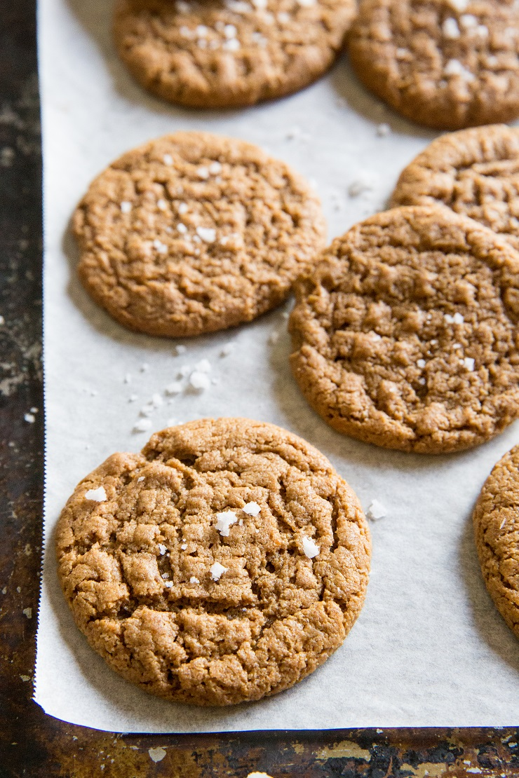 Grain-Free Almond Butter Cookies made flourless and refined sugar-free - dairy-free, gluten-free and delicious
