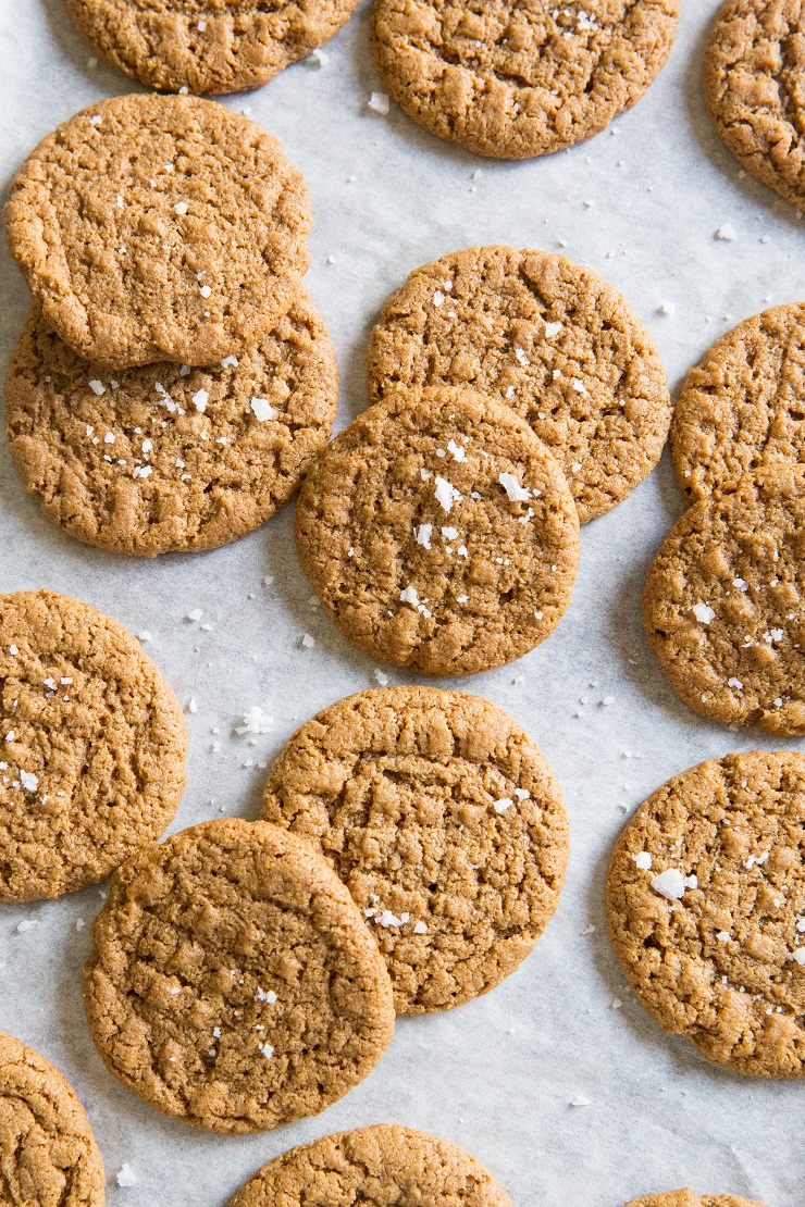Paleo Almond Butter Cookies made grain-free, dairy-free, and refined sugar-free for a cleaner dessert recipe.