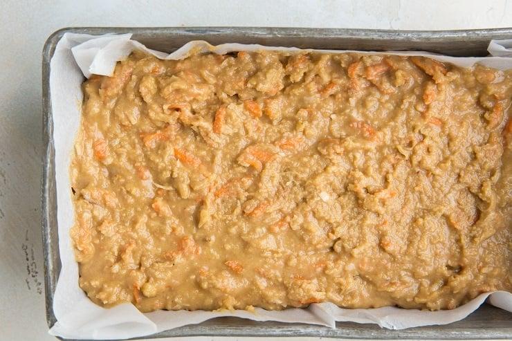 Keto Carrot Cake Bread - grain-free, dairy-free, delicious