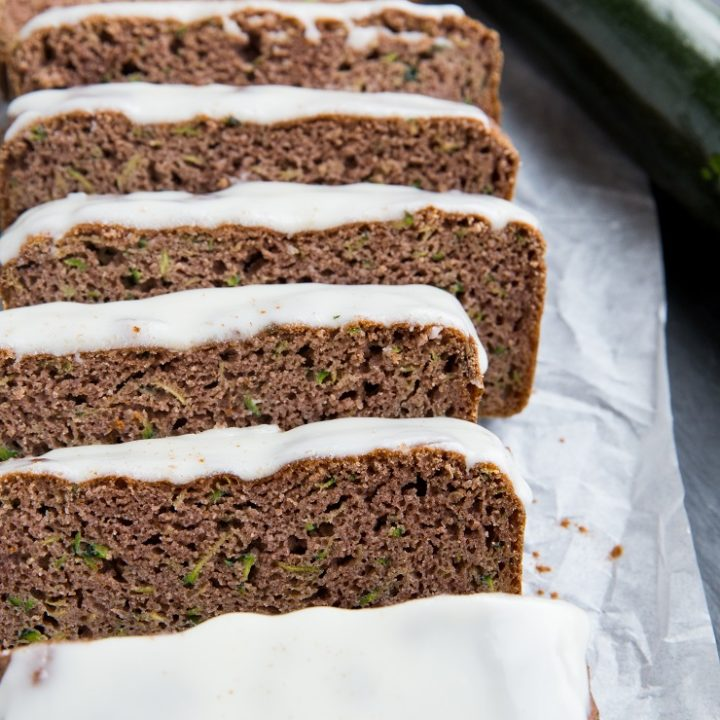 Keto Zucchini Bread made with coconut flour or almond flour. Two versions of low-carb zucchini bread right here!