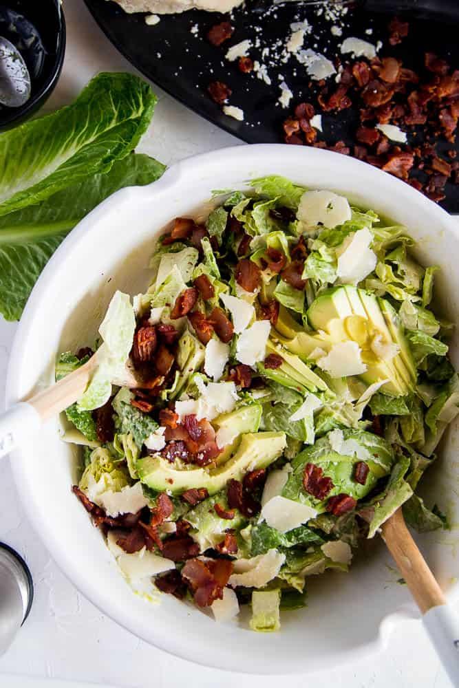 Avocado Bacon Parmesan Salad
