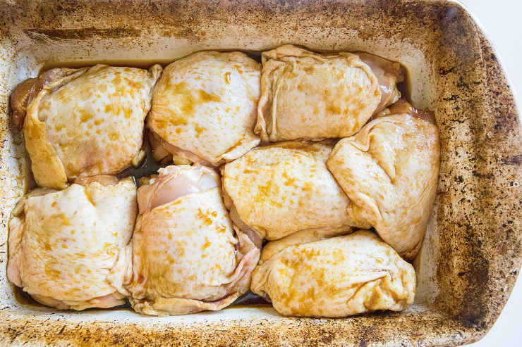 Transfer chicken to a large casserole dish