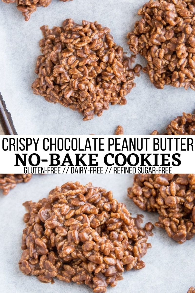 Crunchy Chocolate Peanut Butter No Bake Cookies - Crispy Rice Chocolate Peanut Butter No Bake Cookies are an amazing treat for those who love peanut butter, chocolate, crispy rice cereal, rice crispy treats. Made with just 5 Ingredients! #nobake #puffedrice #riceceral #cookies #nobakecookies #dessert #nobakedessert #peanutbutter #chocolate #peanutbuttercookies #nobakepeanutbuttercookies