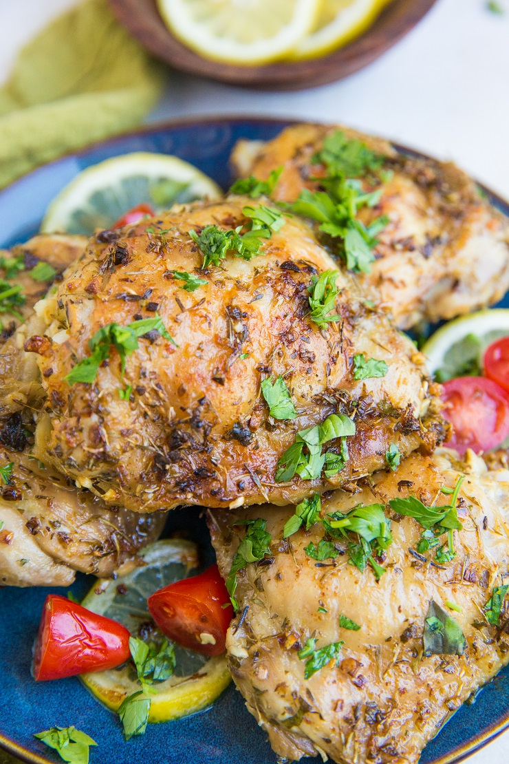 Greek Chicken Recipe with an easy marinade. Quick, simple, absolutely delicious!