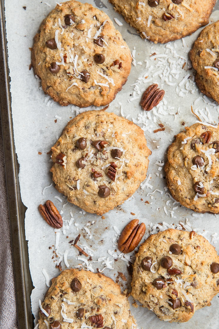 Laura Bush Cowboy Cookies made Keto - low-carb Cowboy Cookies are loaded with delicious goodies.