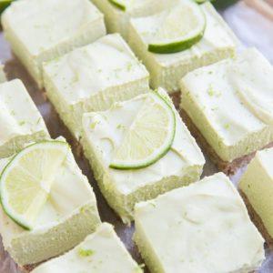 Keto Key Lime Pie bars made sugar-free, vegan, dairy-free, and grain-free. A delicious low-carb summer no-bake dessert recipe!