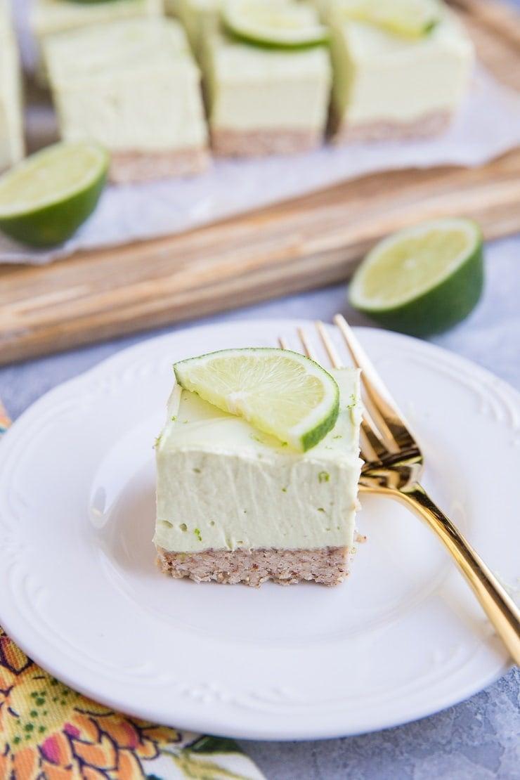 Easy No-Bake Keto Key Lime Pie Bars