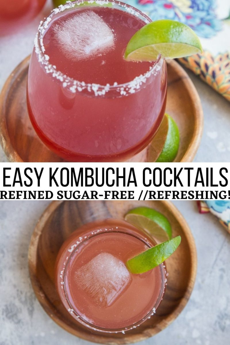 Refreshing & delicious easy Kombucha Cocktail Recipe - refined sugar-free, crisp, and tasty for a healthier summer beverage!