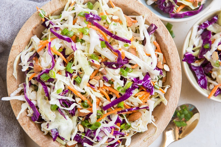 Mayo-Free Coleslaw Recipe - a simple, flavorful coleslaw recipe to use as a side dish, condiment, in salads, sandwiches, wraps, etc.