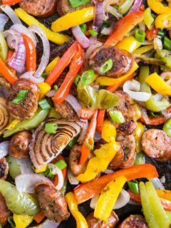 30-Minute Sausage and Peppers - quite possibly the easiest meal you'll ever make! Italian sausage, onions, bell peppers, and dried herbs make this simple meal absolutely incredible.