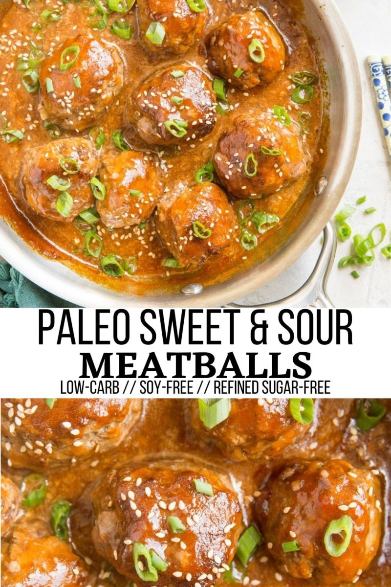 Paleo Sweet and Sour Meatballs made soy-free, refined sugar-free and healthy! This easy recipe can be served as a main entrée or appetizer. Wow your friends and family with these incredible meatballs!
