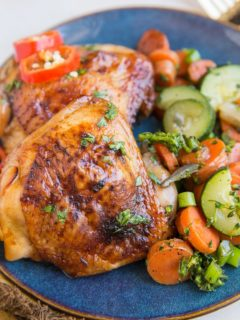 Paleo Baked Teriyaki Chicken Thighs made with just a few ingredients. Your ticket to an amazing meal!