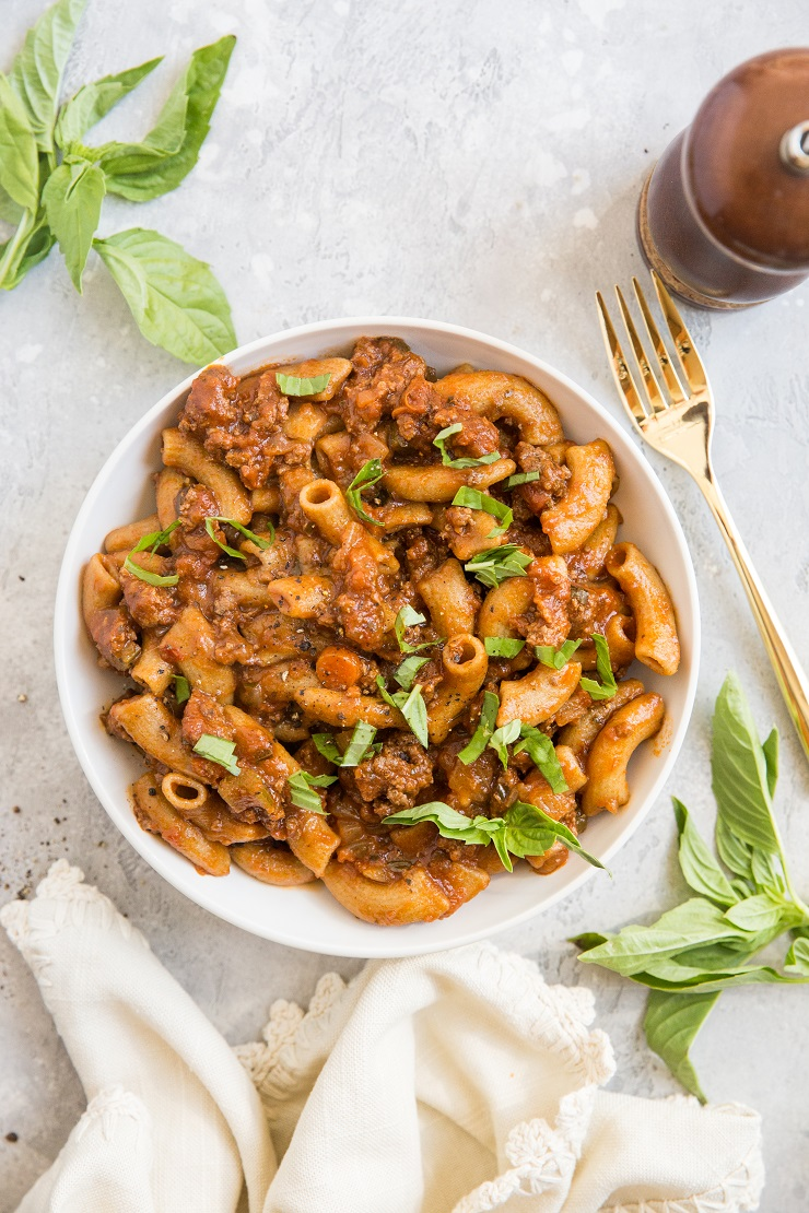 Rigatoni Bolognese recipe - an easy rigatoni pasta recipe with tomato meat sauce is an incredibly satisfying meal