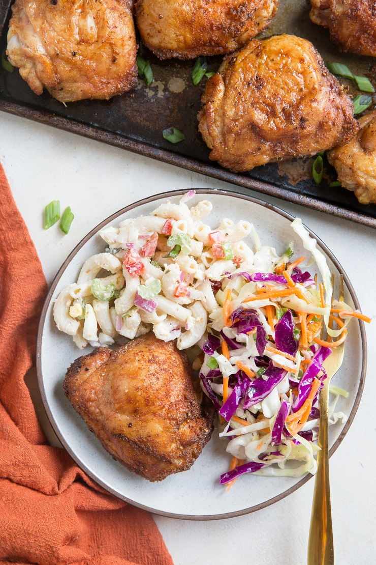 Smoked Chicken Thighs are fall-off-the-bone tender with the perfect level of smoke flavor
