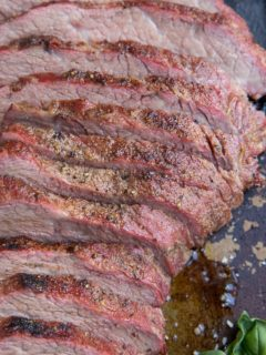 Smoked Tri Tip Recipe - an easy, amazing goof-proof smoked tri tip recipe including how to dry brine meat for the best result. Everything you need to know about smoking tri tip!