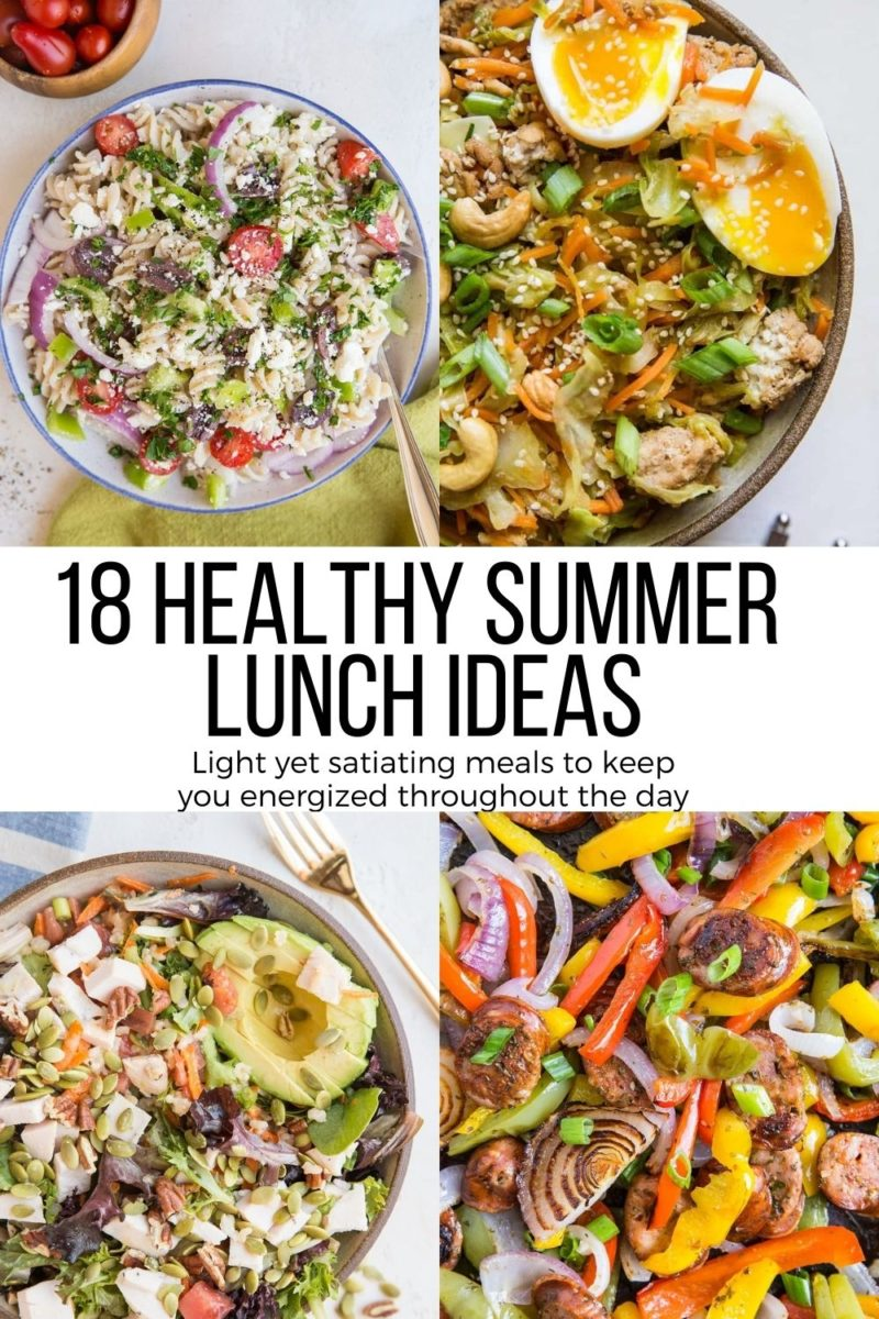 18 Healthy Summer Lunch Ideas to keep you energized throughout the workday! Beat the afternoon slump with these nourishing, delicious lunch recipes.
