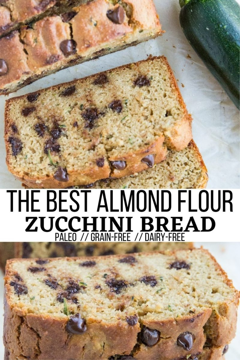 The BEST Paleo Almond Flour Zucchini Bread Recipe! Fluffy, moist, grain-free, dairy-free, refined sugar-free, simply delicious!