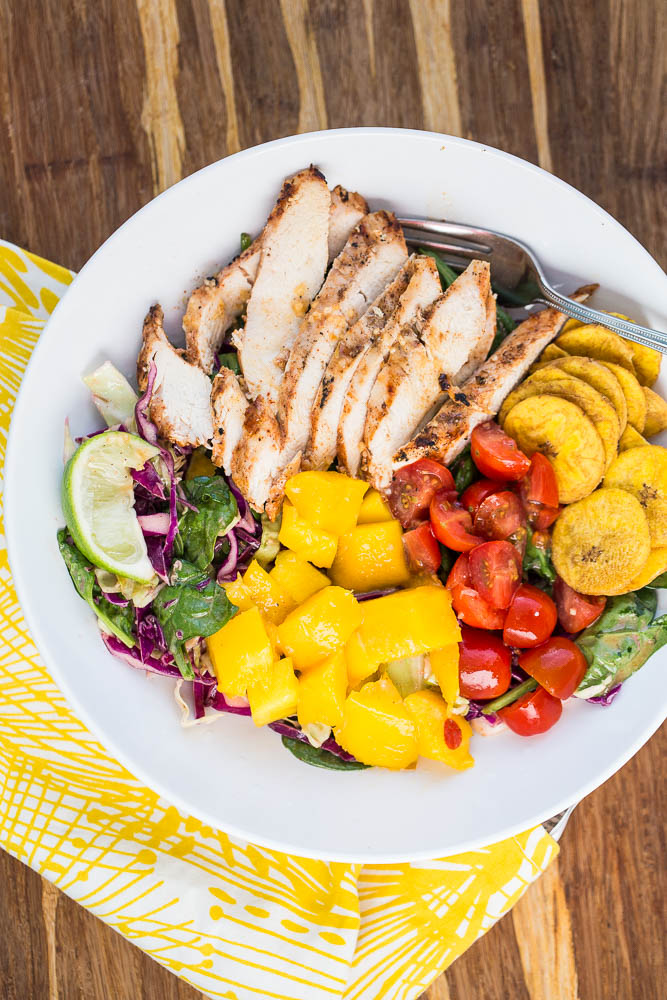 Jerk Chicken Bowls with Mango + a Paleo Meal Plan