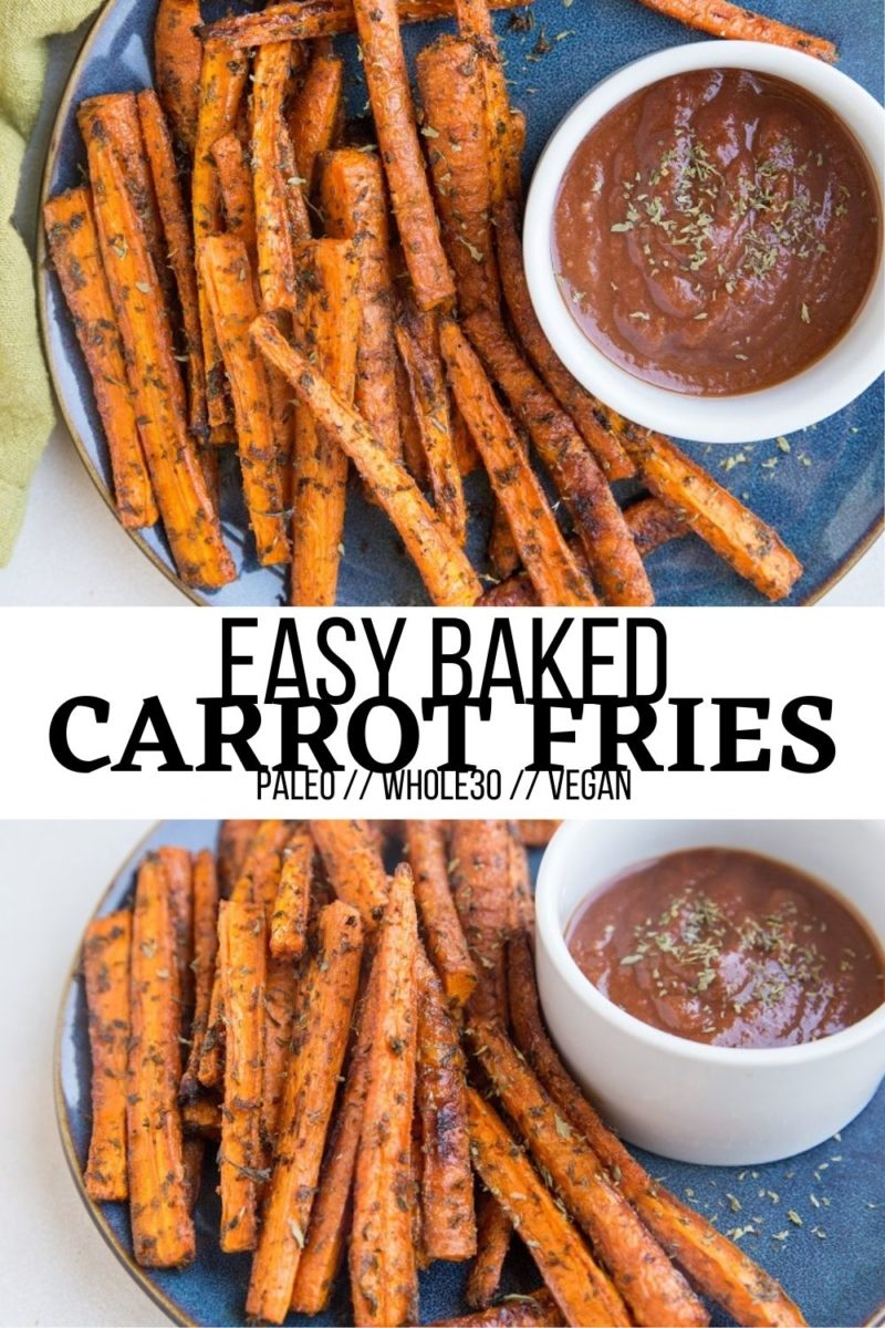 Easy Baked Carrot Fries are an amazing side dish to any meal! Whip them up to go alongside burgers, sandwiches, salads, wraps, steak, and more!