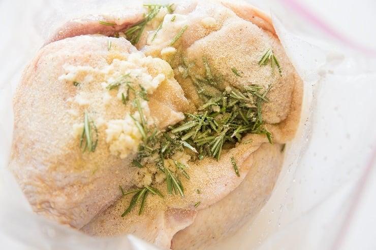 How to marinate lemon garlic rosemary chicken