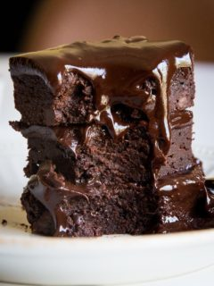 Death by Chocolate Keto Brownies - triple chocolate fudge brownies made sugar-free, keto friendly, low-carb, grain-free, moist, decadent and delicious!