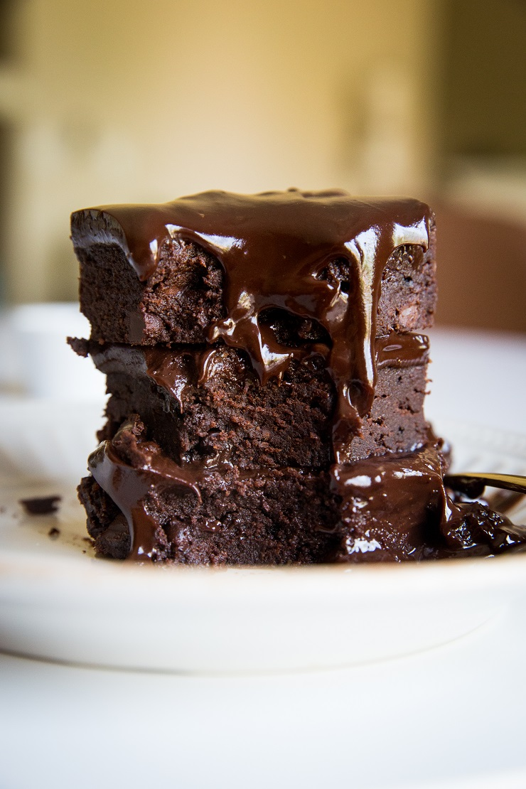 Triple Chocolate Keto Fudge Brownies are absolutely divine!