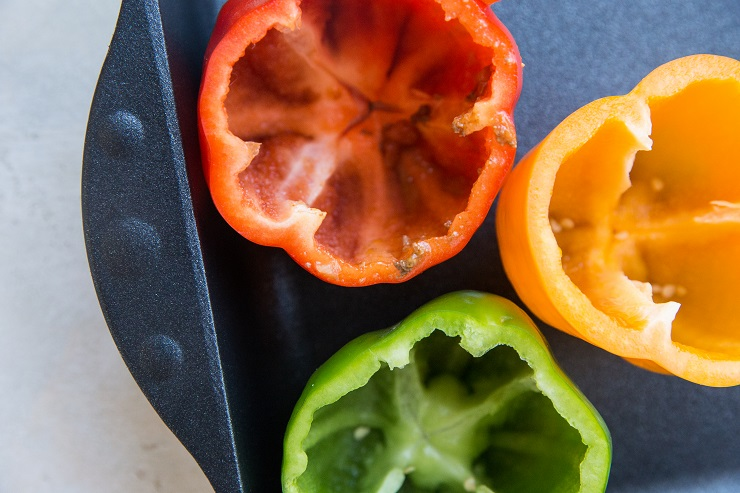 Core the bell peppers