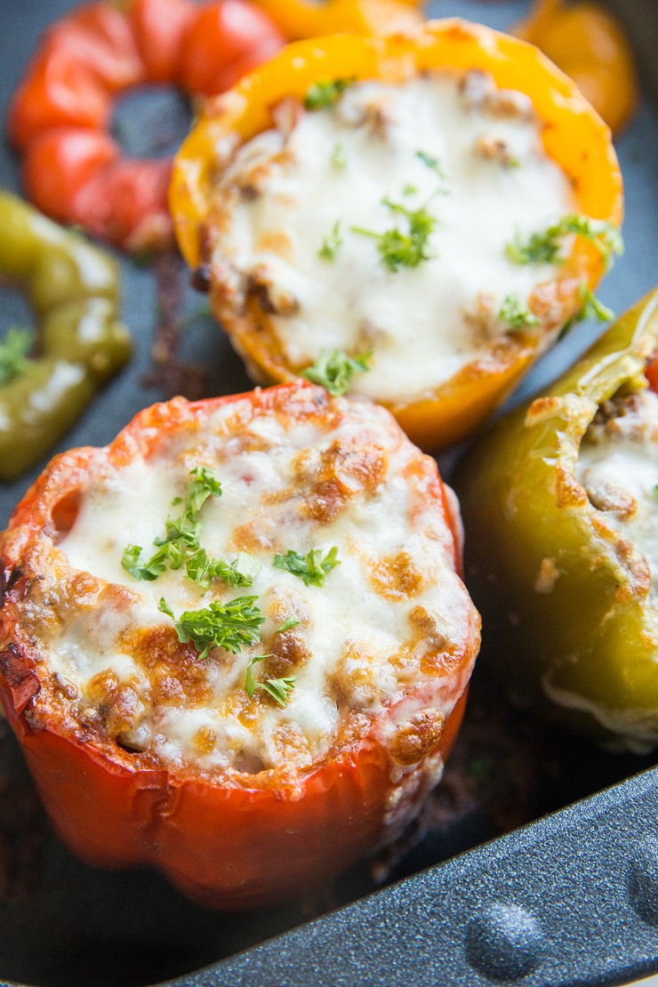 Easy Stuffed Bell Peppers made with just 10 basic ingredients! A quick and tasty dinner recipe that is filling and delicious.