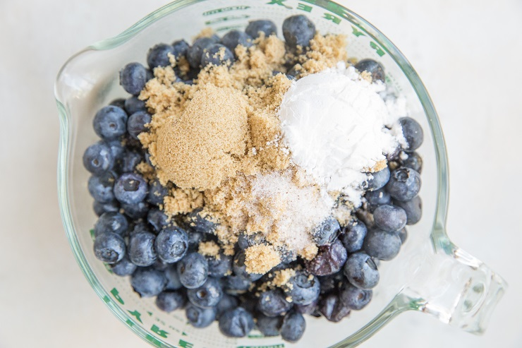 Ingredients for the blueberry filling