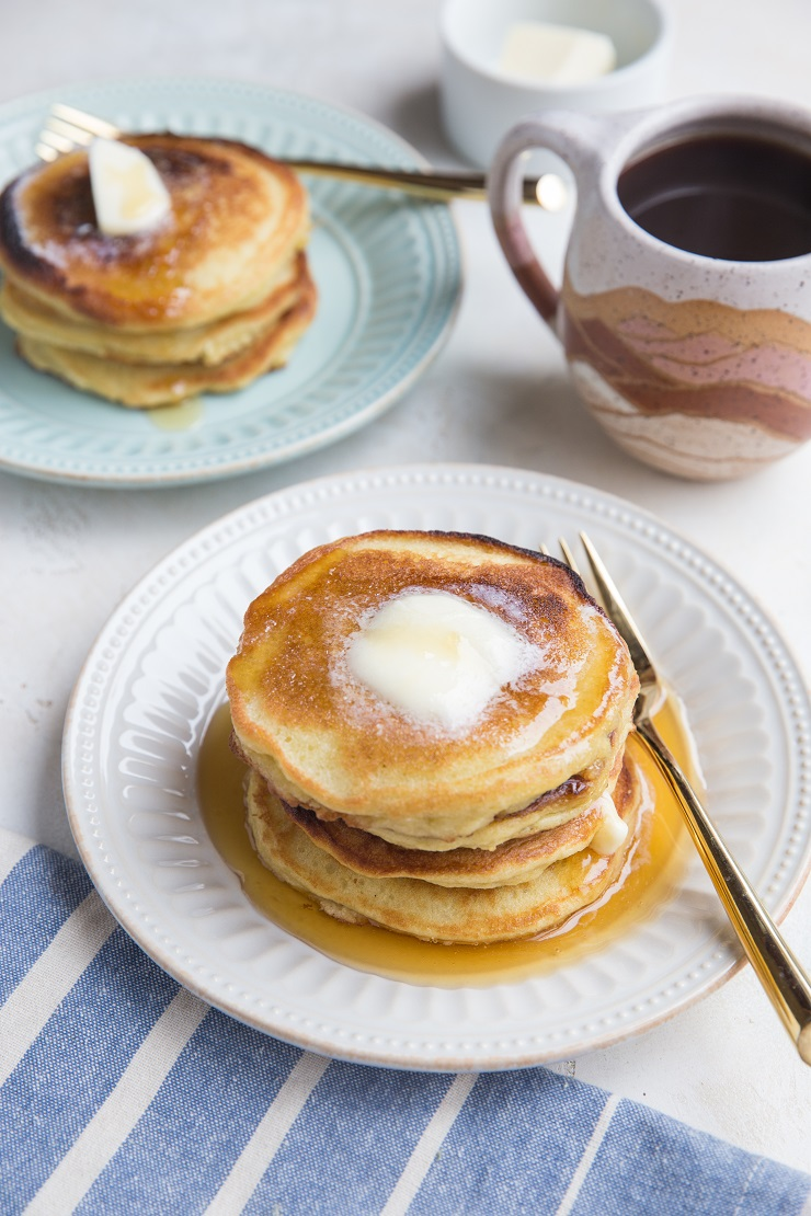 Grain-Free Keto Coconut Flour Pancakes - delicious, fluffy, and low-carb pancakes